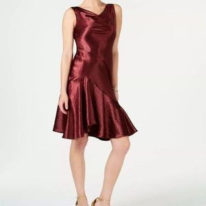 Taylor burgundy wine red cocktail dress